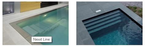 Een prachtig polyester zwembad
